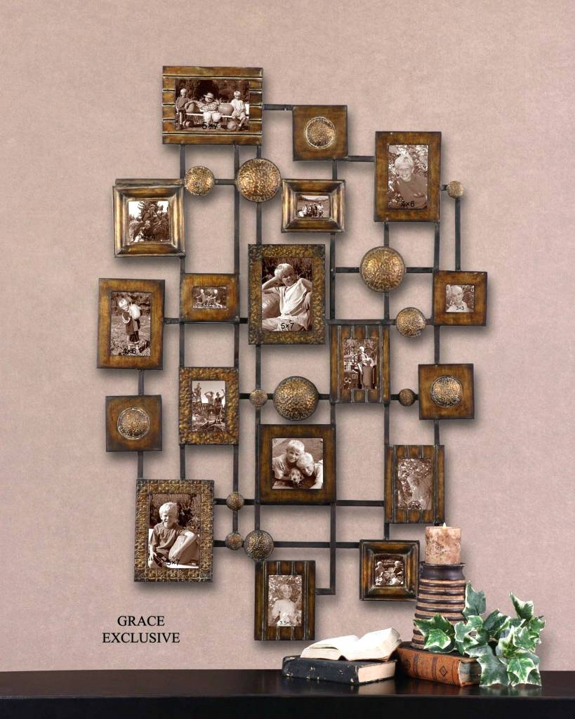 Wall Arts ~ Uttermost Natane Decorative Metal Wall Art Distressed Intended For 2017 Wood And Metal Wall Art (View 15 of 20)