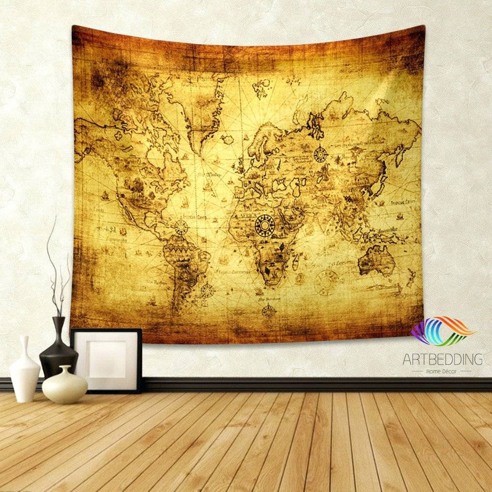 Wall Arts ~ Vintage London Map Wall Art Old World Map Art Canvas Inside Most Recent Paris Map Wall Art (View 7 of 20)