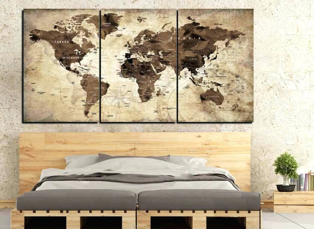 Wall Arts ~ Vintage London Map Wall Art Old World Map Art Old Inside Most Current World Map Wall Artwork (View 12 of 20)