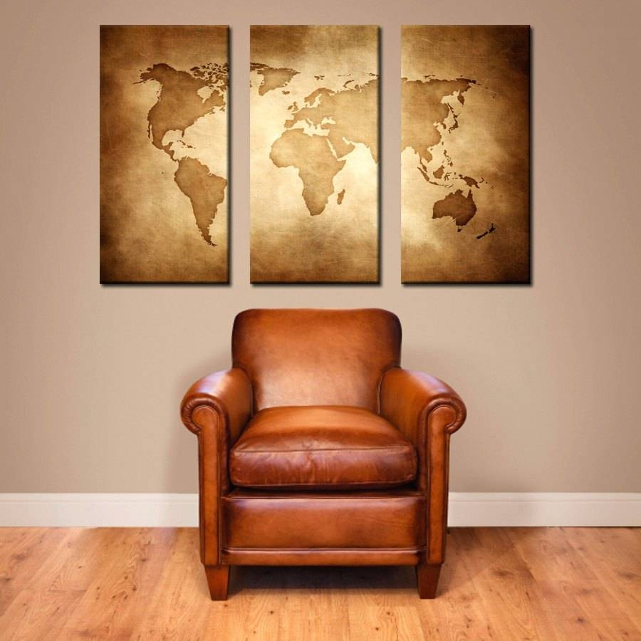 Wall Arts ~ Vintage World Map Artwork Vintage Maps Wall Art Zoom Intended For Most Popular Map Wall Art Maps (View 14 of 20)