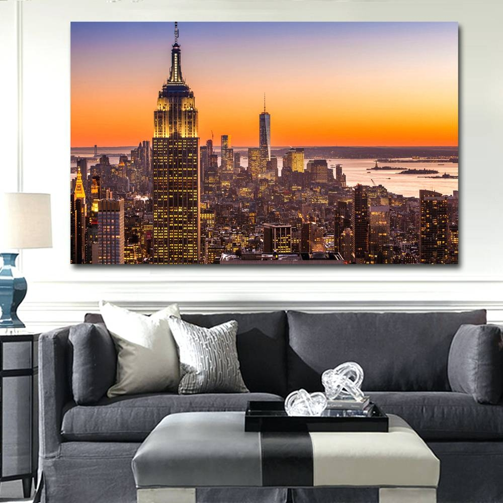 Wall Arts ~ Wall Art New York City Cityscape Wall Art New York In Most Up To Date New York Map Wall Art (View 18 of 20)