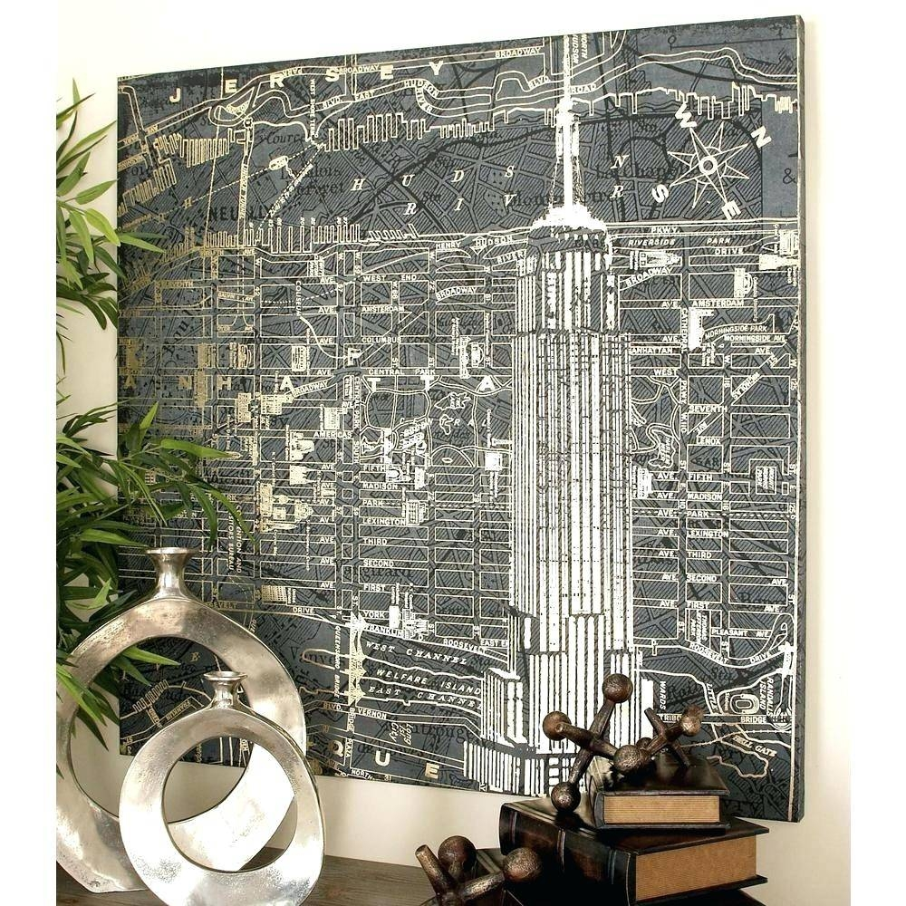 Wall Arts ~ Wall Art New York City Cityscape Wall Art New York Within Latest New York City Skyline Metal Wall Art (View 20 of 20)