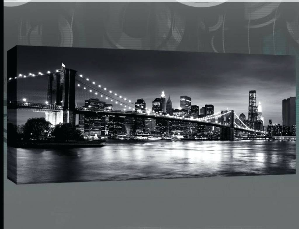 Wall Arts ~ Wall Art New York City Skyline Wonderful New York City For Current New York Subway Map Wall Art (Gallery 16 of 20)
