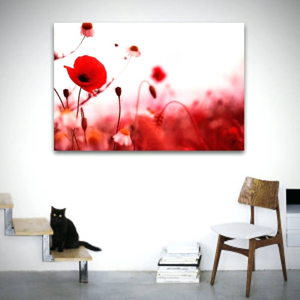 Wall Arts ~ Wall Art Poppies Red Metal Wall Art Poppies Flower Throughout 2017 Poppy Metal Wall Art (View 13 of 20)