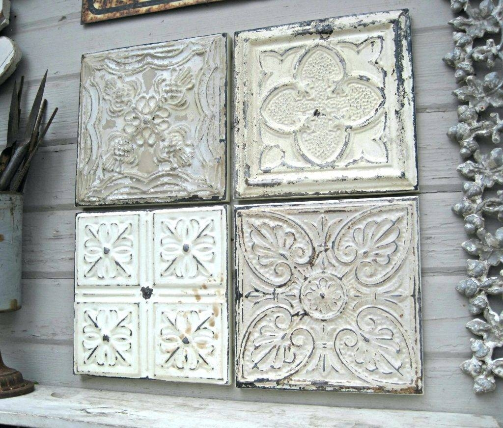 Wall Arts ~ White Metal Wall Decor Ergonomic Wrought Iron Wall Pertaining To Latest Distressed Metal Wall Art (View 4 of 20)