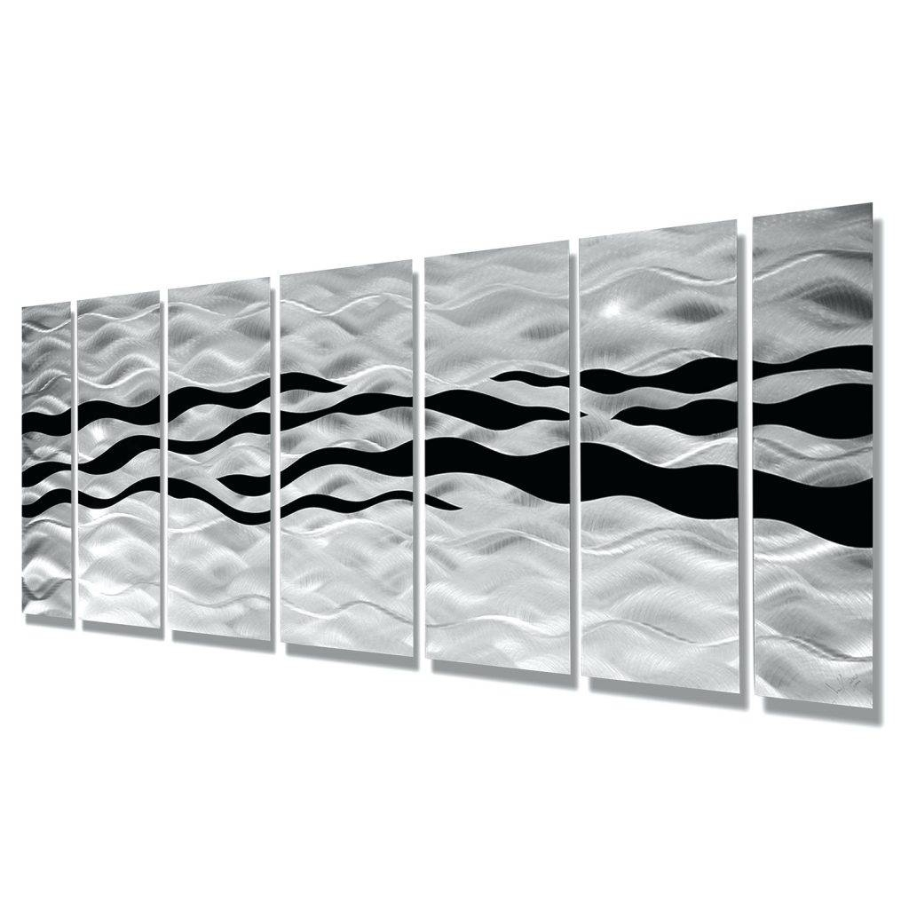 Wall Arts ~ Wild Ways Silver And Black Modern Metallic Wall Intended For 2017 Woven Metal Wall Art (View 14 of 20)