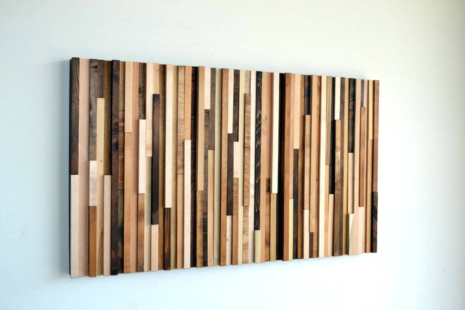 Wall Arts ~ Wood And Metal Gate Wall Art Bedroomleaf Wall Decor Intended For Current Wood Metal Wall Art (View 6 of 20)