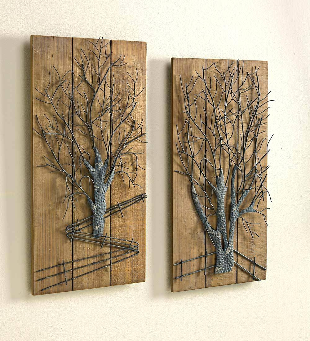 Wall Arts ~ Wood Metal Tree Wall Art Wooden Tree Wall Art India For Most Up To Date India Metal Wall Art (View 4 of 20)