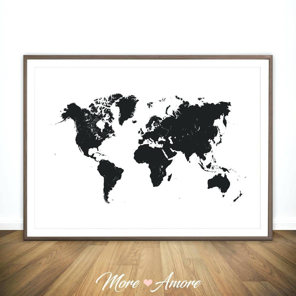 Wall Arts ~ Wooden Wall Art World Map Zoom Wall Art World Map In Most Up To Date Africa Map Wall Art (Gallery 16 of 20)