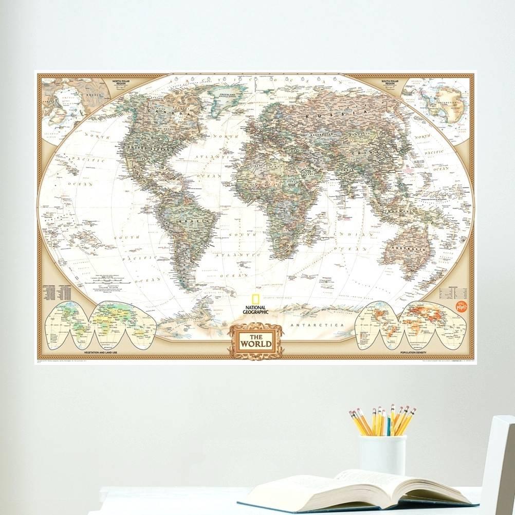 Wall Arts ~ Wooden Wall Art World Map Zoom Wall Art World Map Within 2018 Africa Map Wall Art (View 9 of 20)