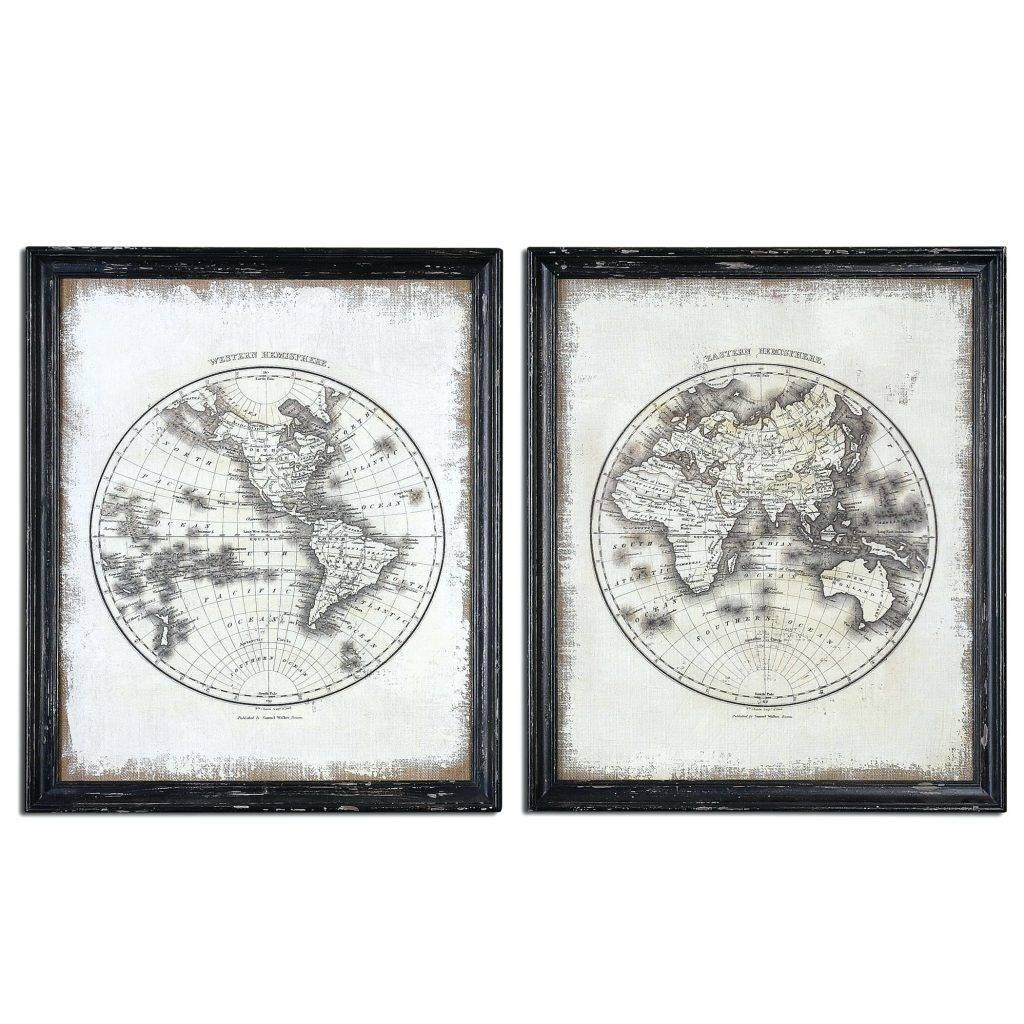 Wall Arts ~ World Map Wall Art Framed World Map Wall Art Canvas Regarding Most Up To Date Framed Map Wall Art (View 15 of 20)