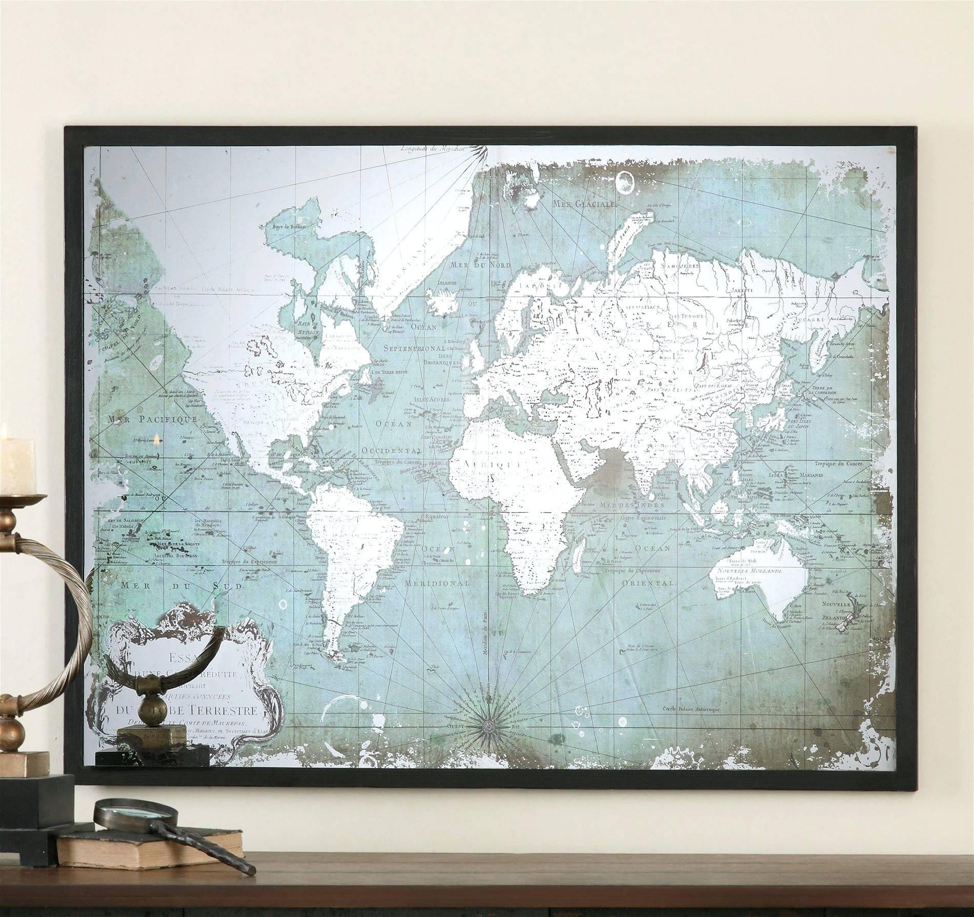Wall Arts: World Map Wall Art Framed. World Map Wall Art Framed (View 16 of 20)