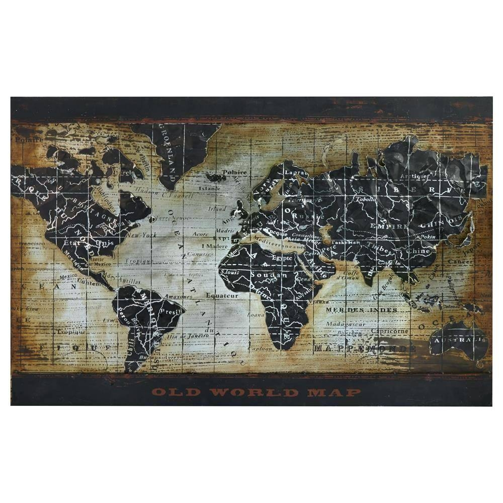 Wall Arts: World Map Wall Art Framed. World Map Wall Art Framed (View 17 of 20)