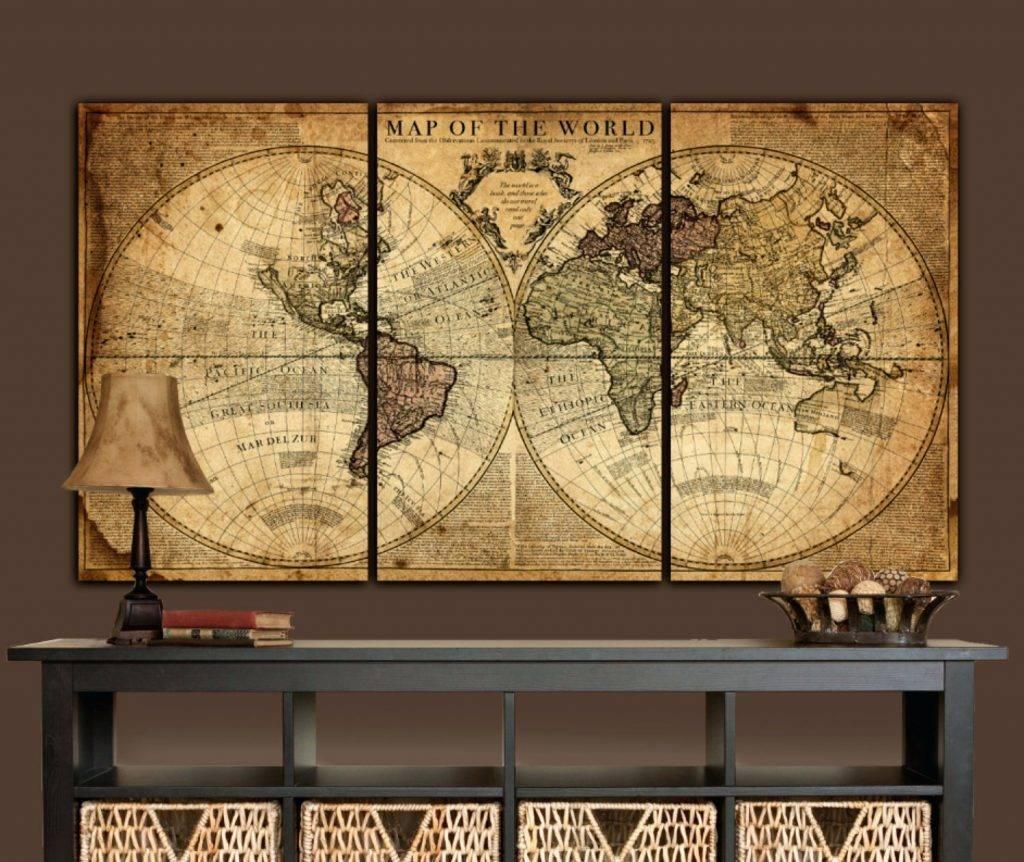 Wall Arts ~ World Map Wall Art Ideas Diy World Map Wall Art For 2017 Map Wall Art Maps (View 19 of 20)