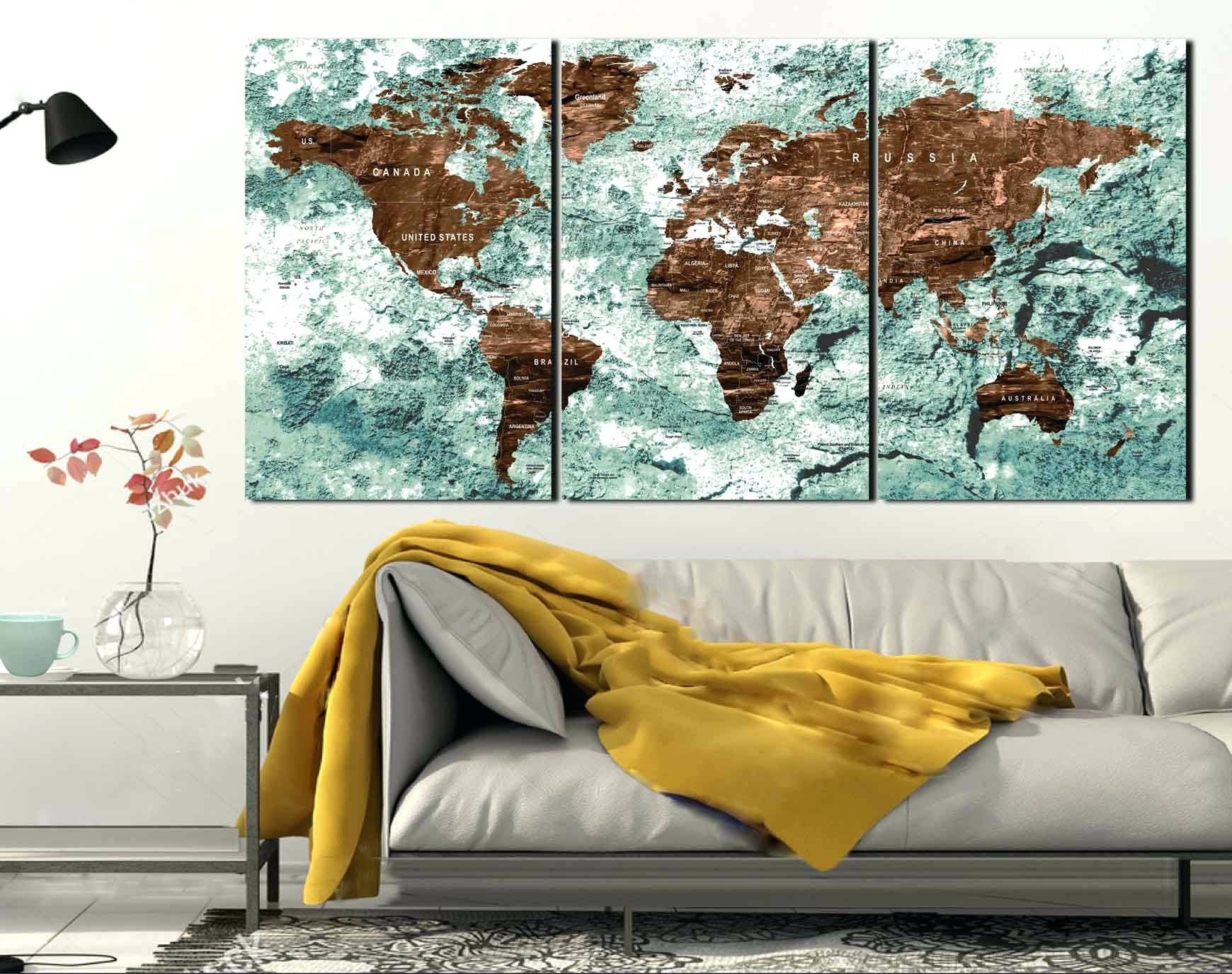 The best framed map wall art wall arts world map wall art ideas world map wall art framed map regarding 2018 gumiabroncs Gallery