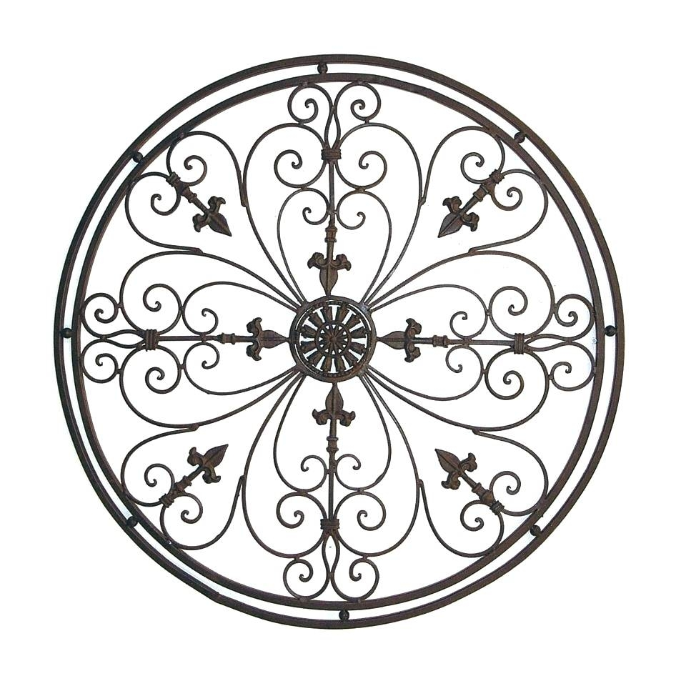 Wall Arts ~ Wrought Iron Wall Art Ideas Wrought Iron Wall Art With Regard To Most Recently Released Wrought Iron Metal Wall Art (View 18 of 20)
