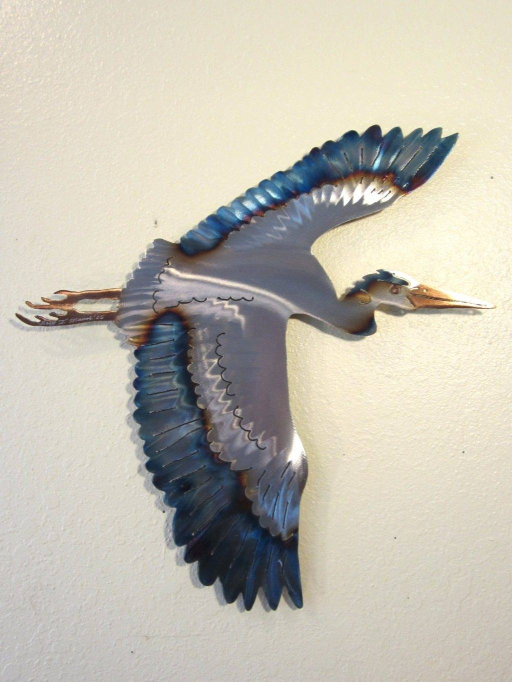 Wall Arts ~ Zoom Blue Heron Outdoor Wall Art Blue Heron Metal Wall Inside Current Blue Heron Metal Wall Art (View 9 of 20)