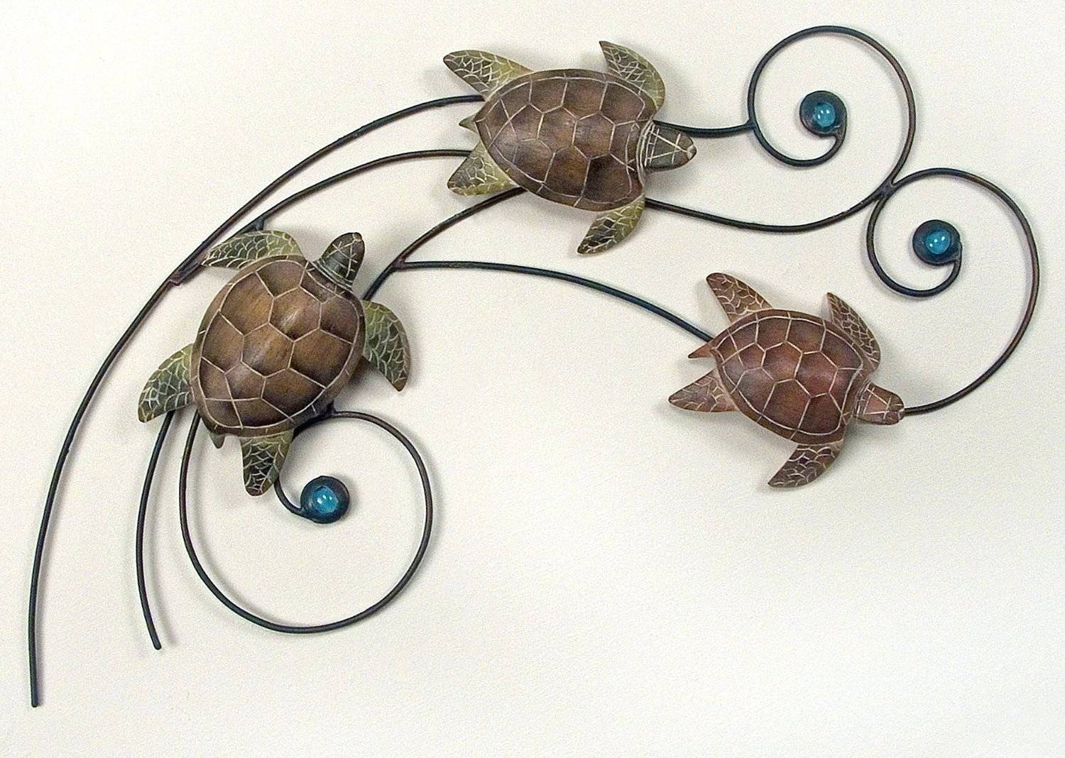 Wall Arts ~ Zoom Cozy Zoom 58 Tropical Ocean Sea Turtle Metal Wall With 2017 Turtle Metal Wall Art (View 20 of 20)