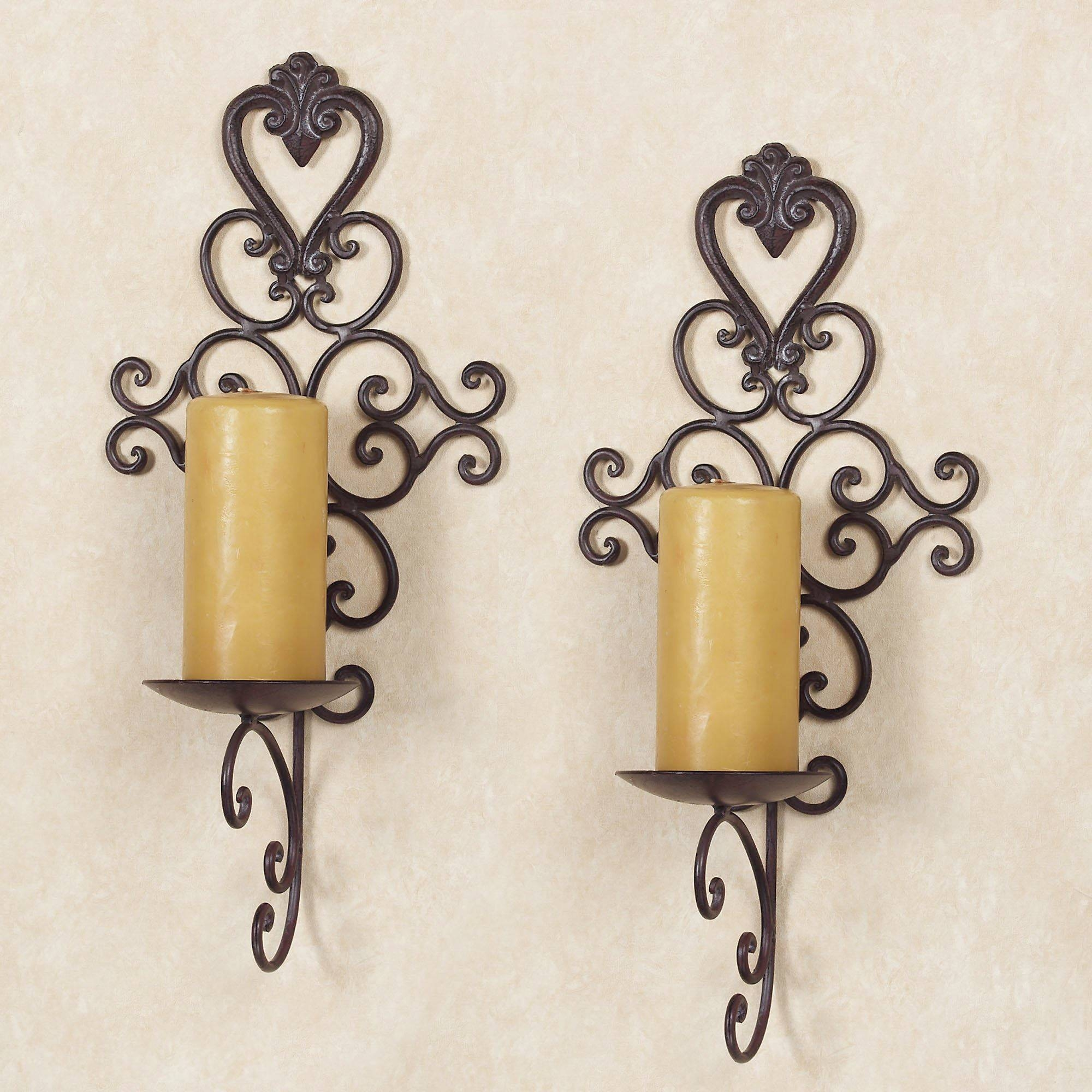 Wall Candle Holder Design Ideas — The Decoras Jchansdesigns In 2017 Metal Wall Art Candle Holder (View 16 of 20)