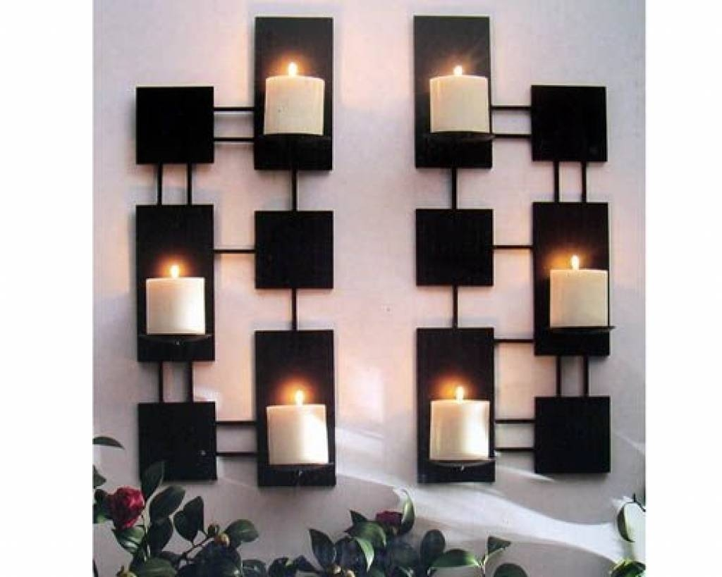 Wall Candle Holders Modern | Wall Decor | Pinterest | Wall Candle With Regard To Recent Metal Wall Art With Candle Holders (View 7 of 20)