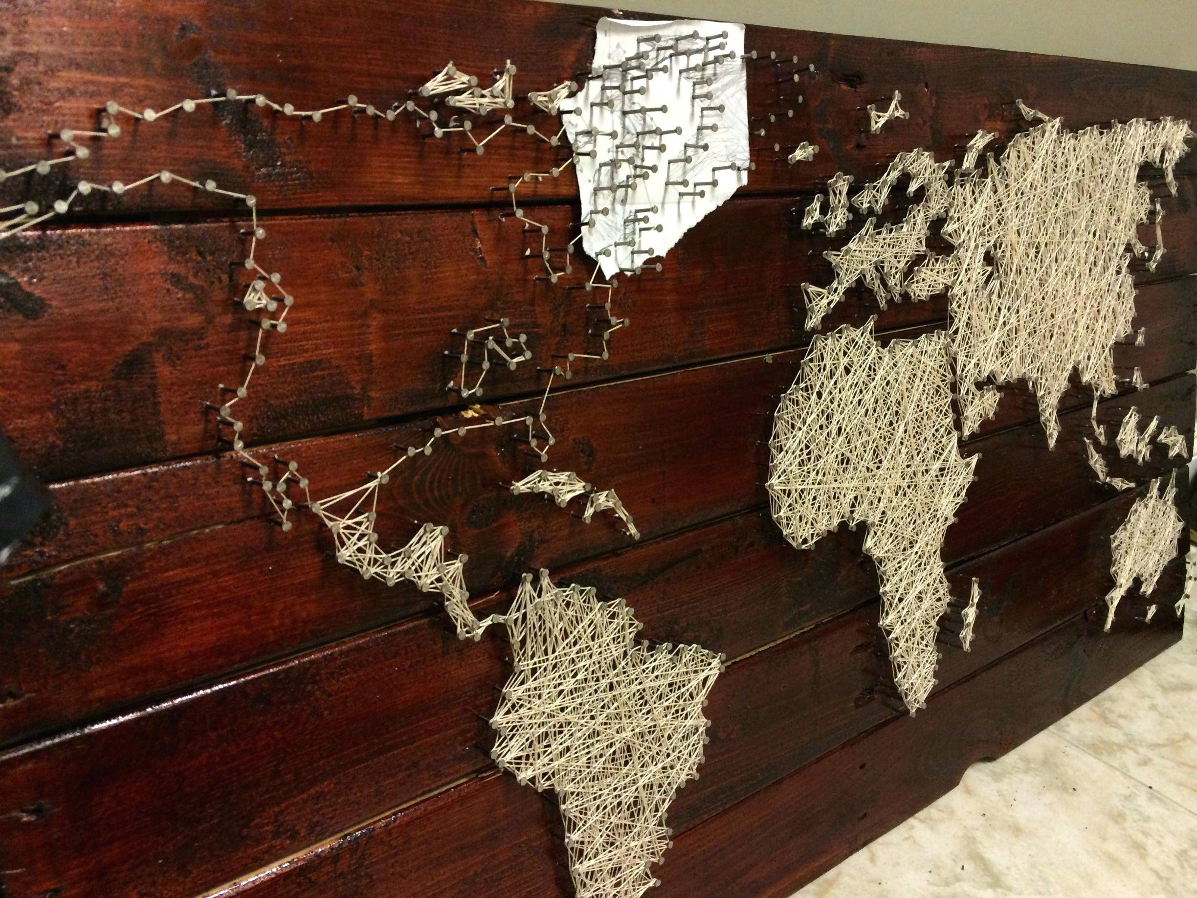 Wall Decor : 93 Compact Create Map Wall Art With A Pallet String Pertaining To Recent String Map Wall Art (View 19 of 20)