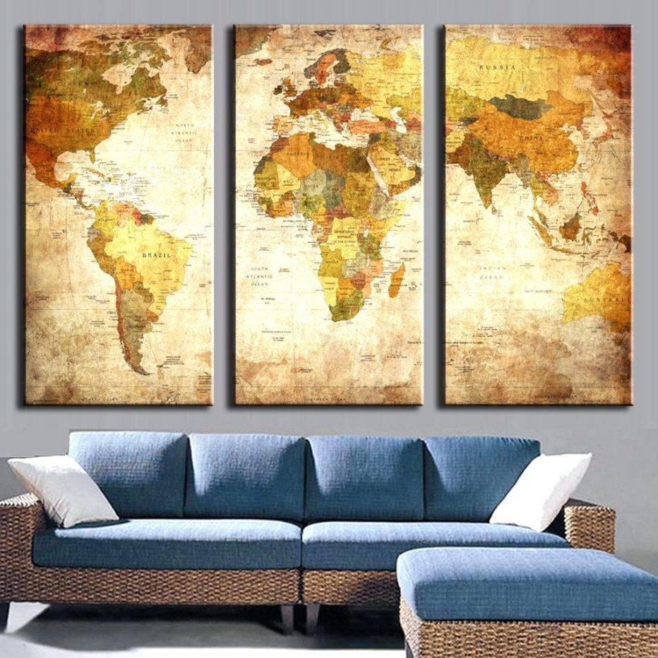2018 Best of 3 Piece Metal Wall Art