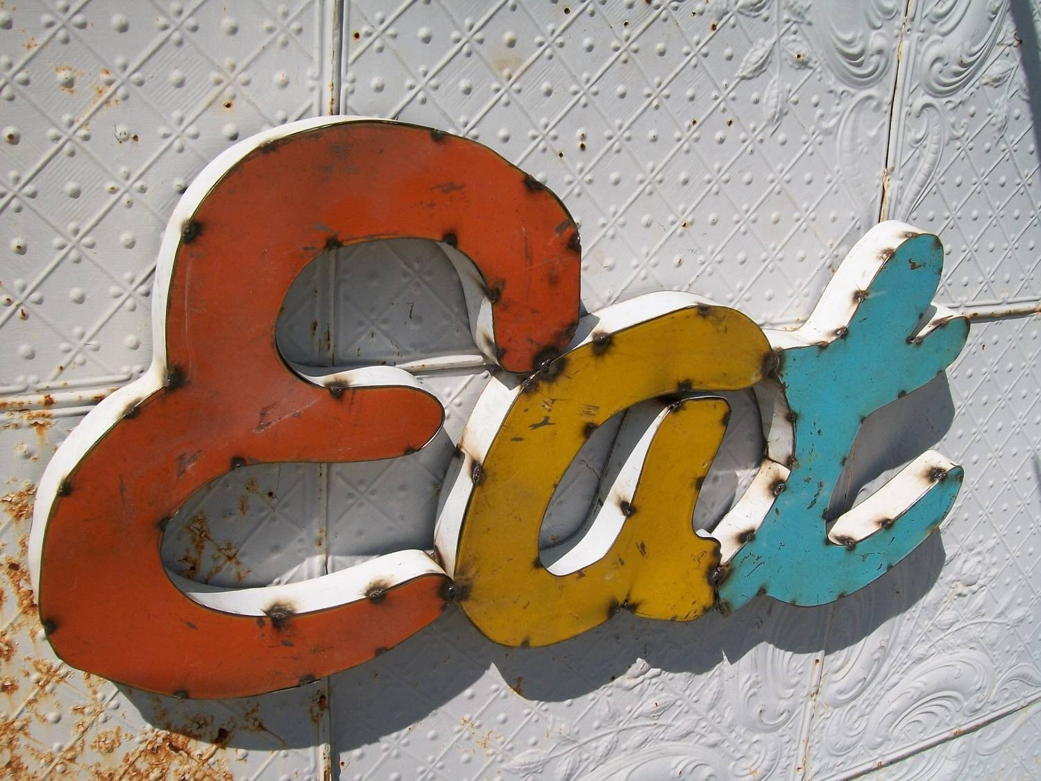 Wall Decor: Large Metal Letters For Wall Decor For Home Decorative Inside Most Recent Metal Wall Art Letters (View 7 of 20)
