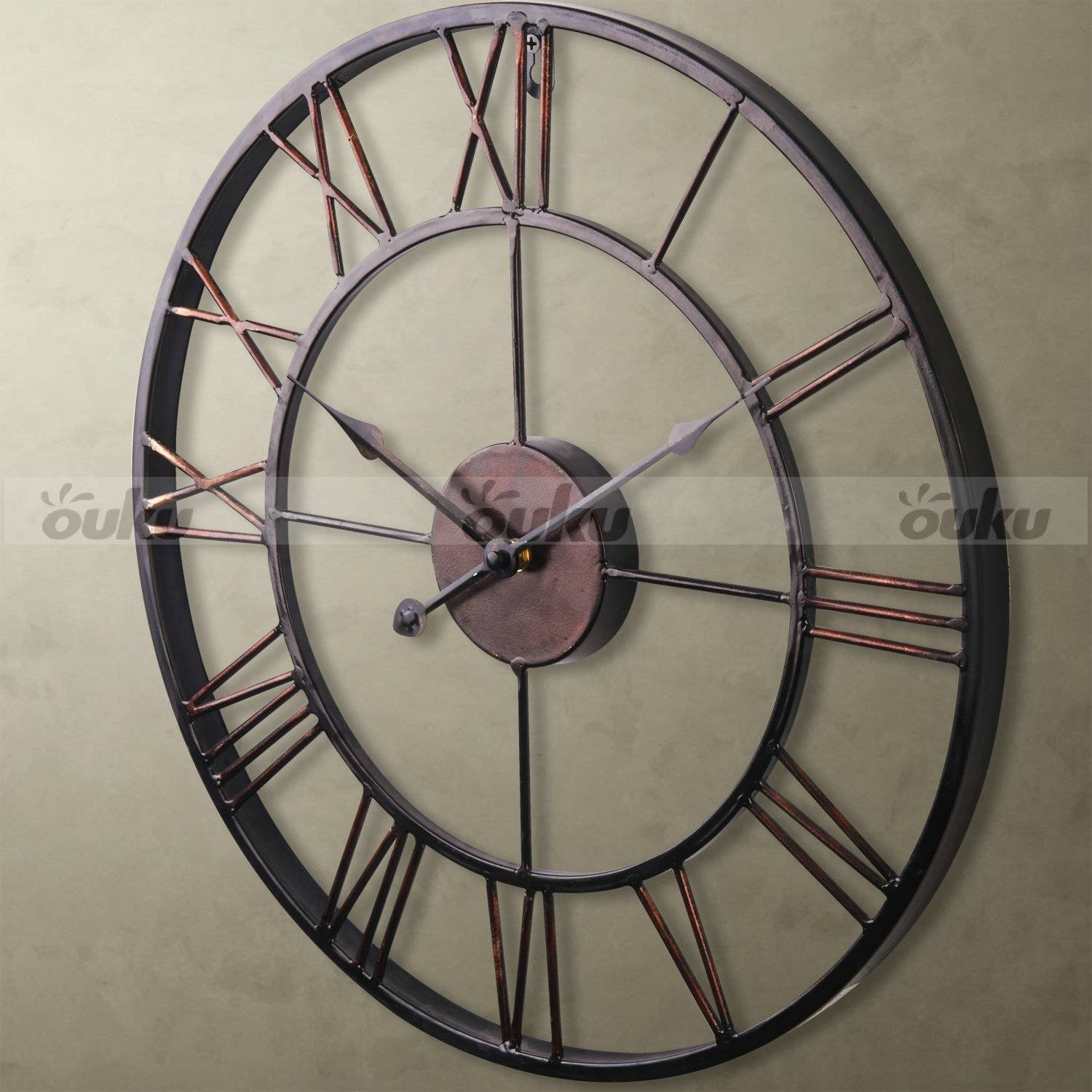 Wall Decor: Metal Wall Clock Images. Design Decor (View 3 of 20)