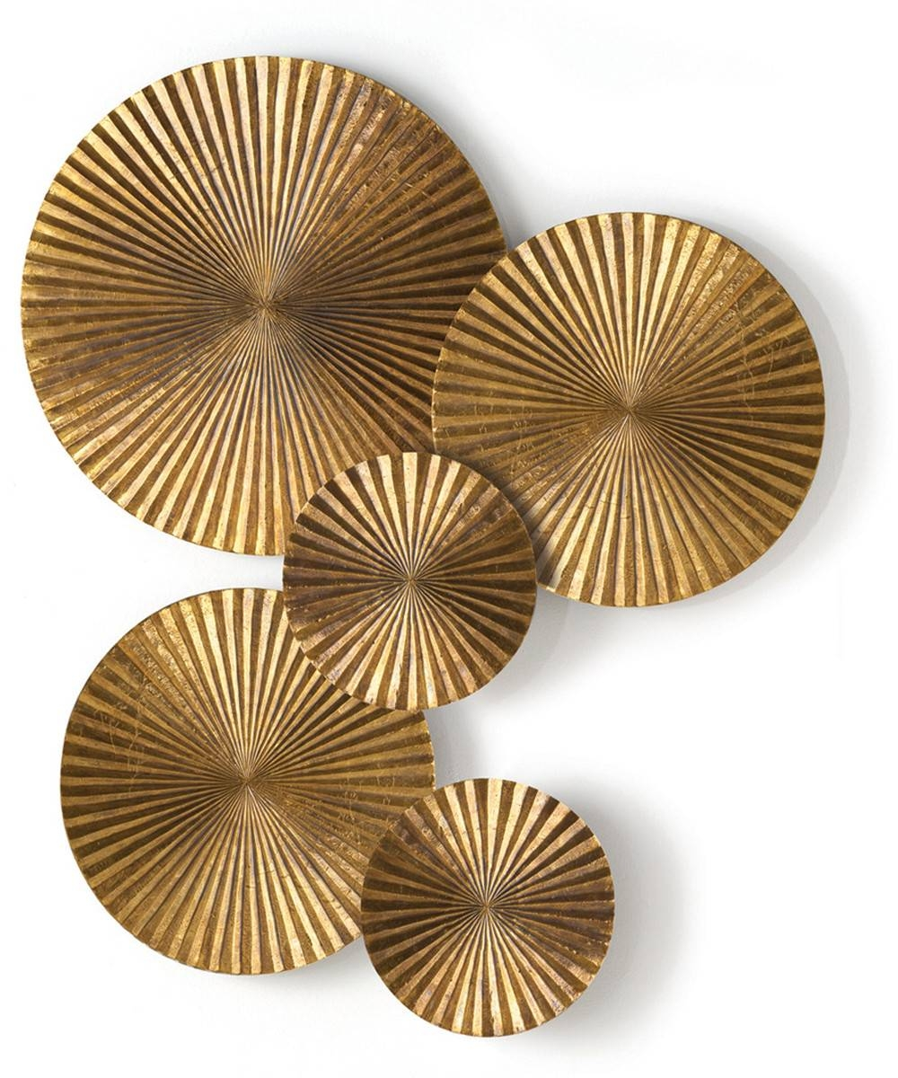 Wall Decor: Nice Decorative Metal Disc Wall Art Cast Aluminum Wall With Most Current Gold Metal Wall Art (Gallery 7 of 20)