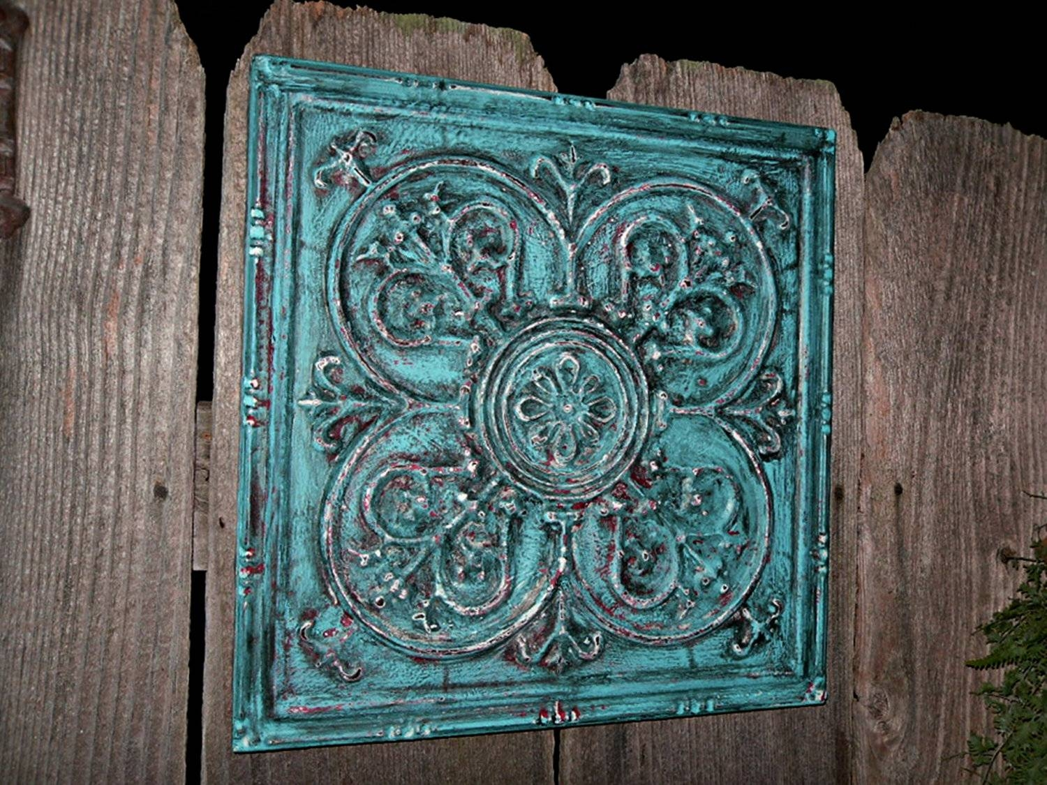 Wall Decor Turquoise – New Dining Rooms Walls Inside Best And Newest Turquoise Metal Wall Art (View 8 of 20)