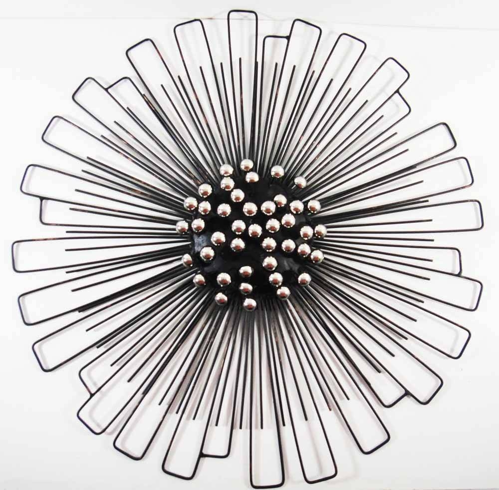 Wall Ideas : Metal And Wood Abstract Circle Art Decor Plaque In Recent Round Metal Wall Art (View 10 of 20)