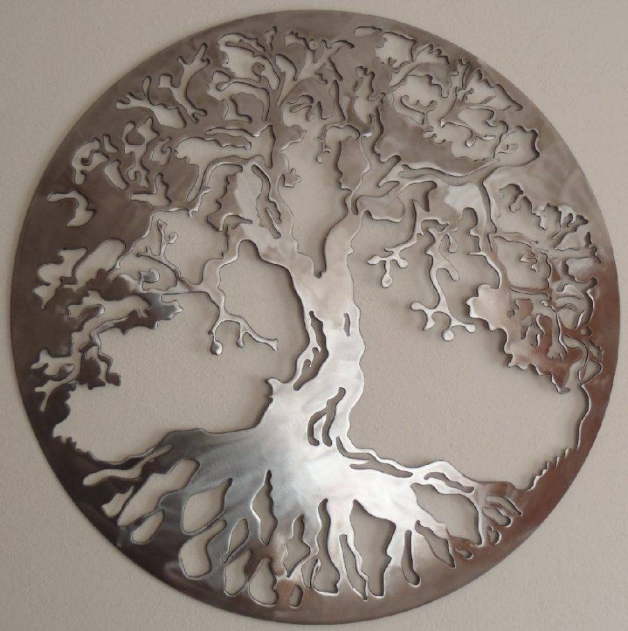 Wall Ideas: Round Metal Wall Art Images (View 7 of 20)