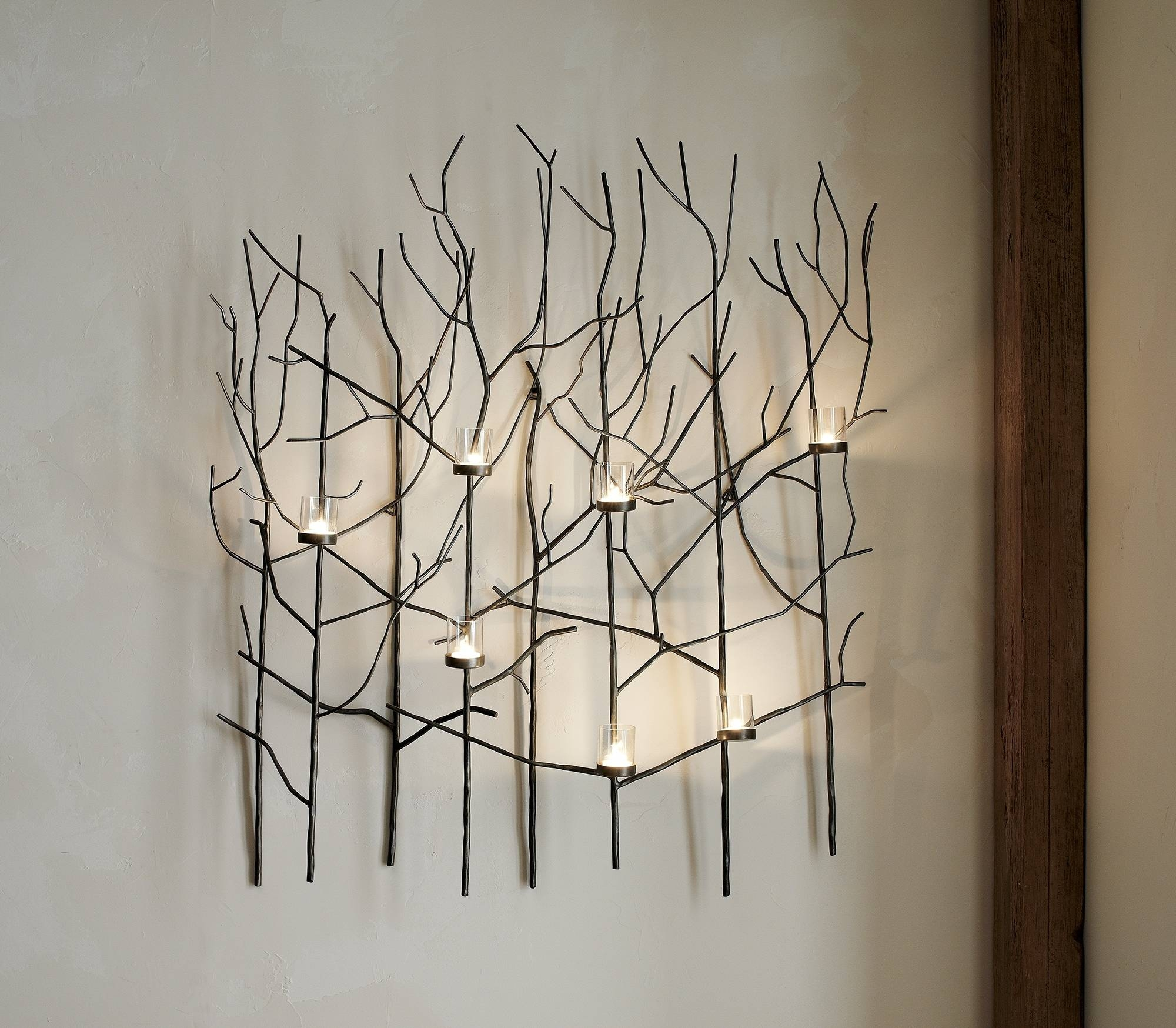 Wall Ideas Tealight Candle Holder Wall Decor Wall Art : Metal Wall Regarding 2017 Metal Wall Art With Candles (View 10 of 20)