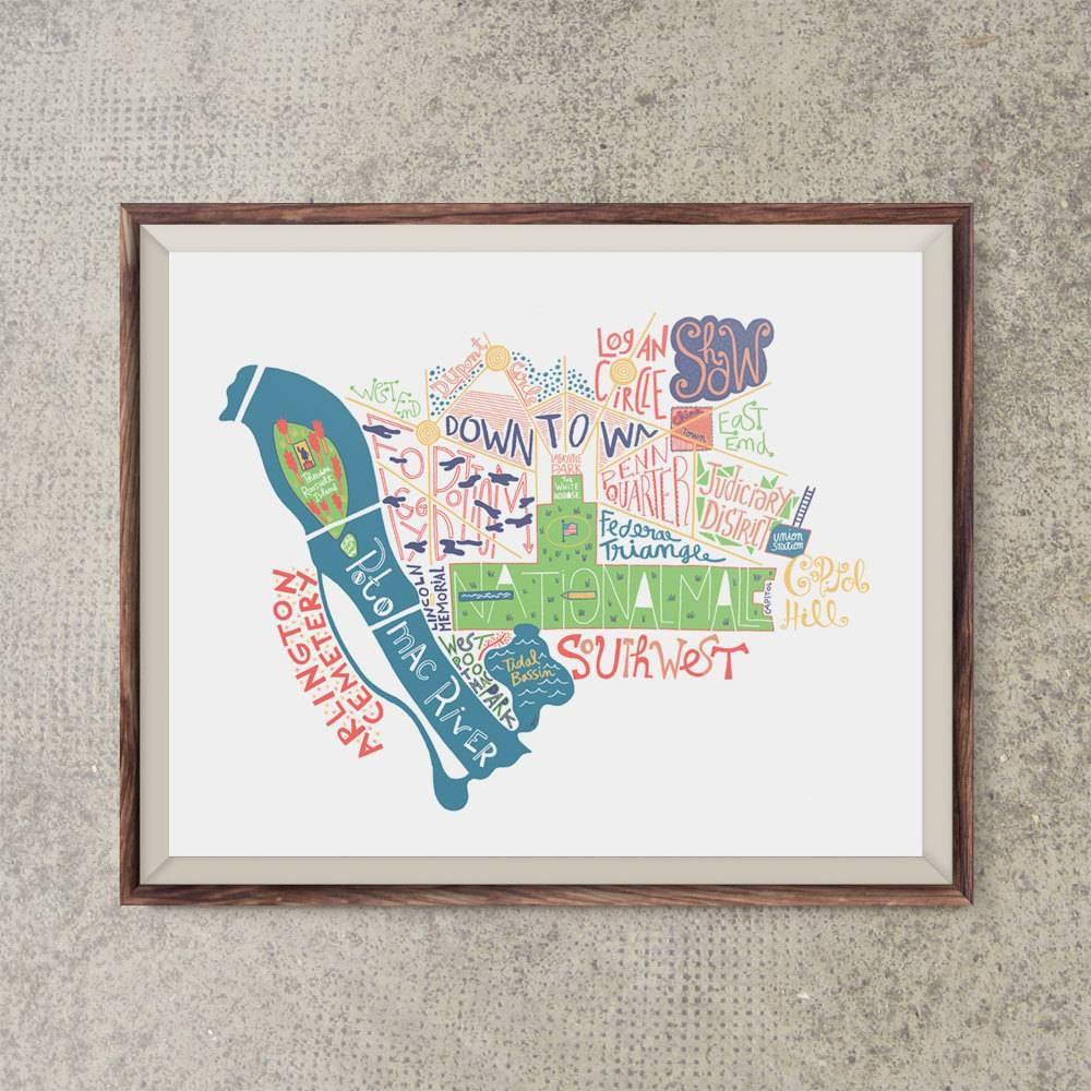 Featured Photo of Washington Dc Map Wall Art