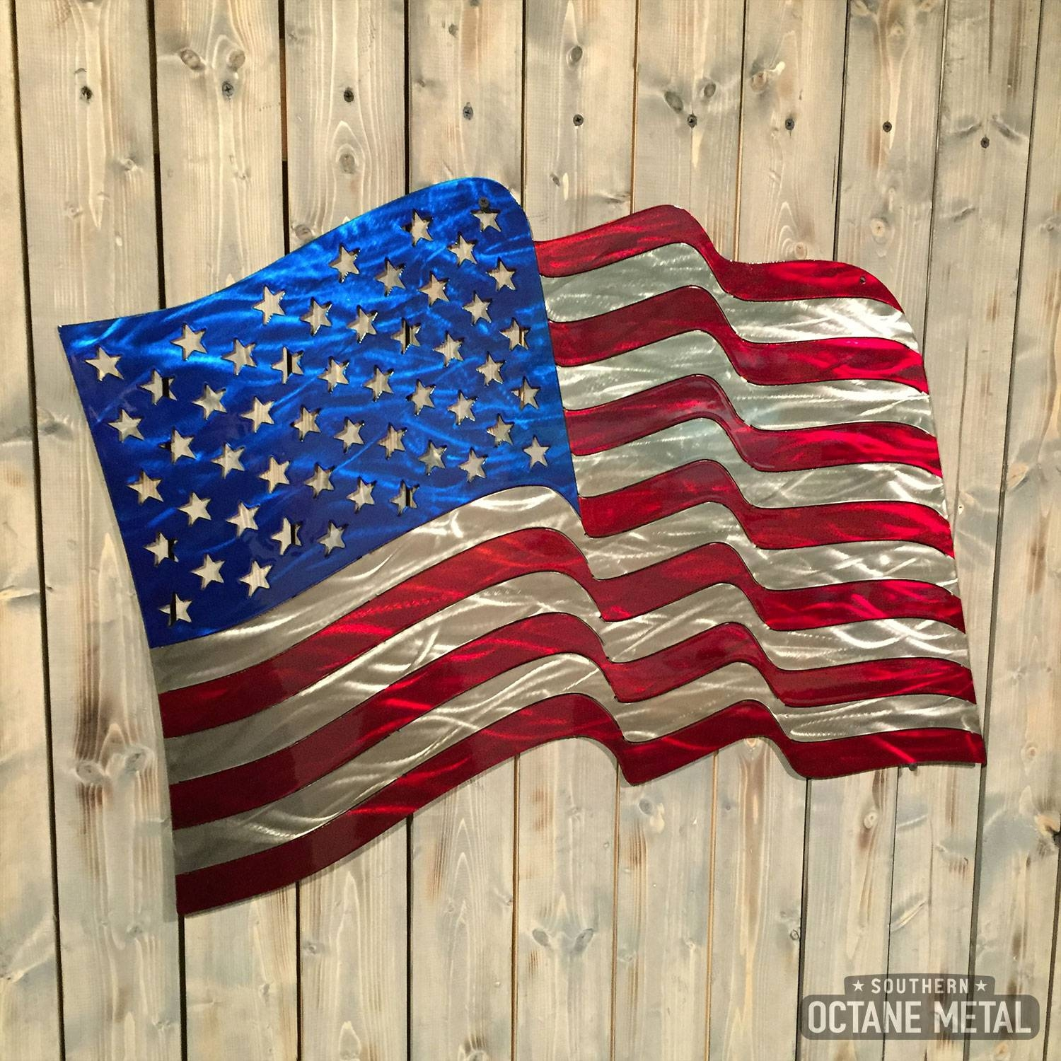 Featured Photo of American Flag Metal Wall Art