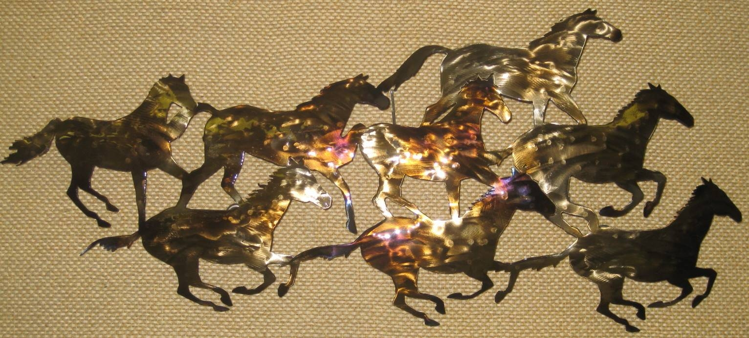 Western Prints Metal Wall Arts Gifts For Sale Within 2018 Horses Metal Wall Art (View 4 of 20)