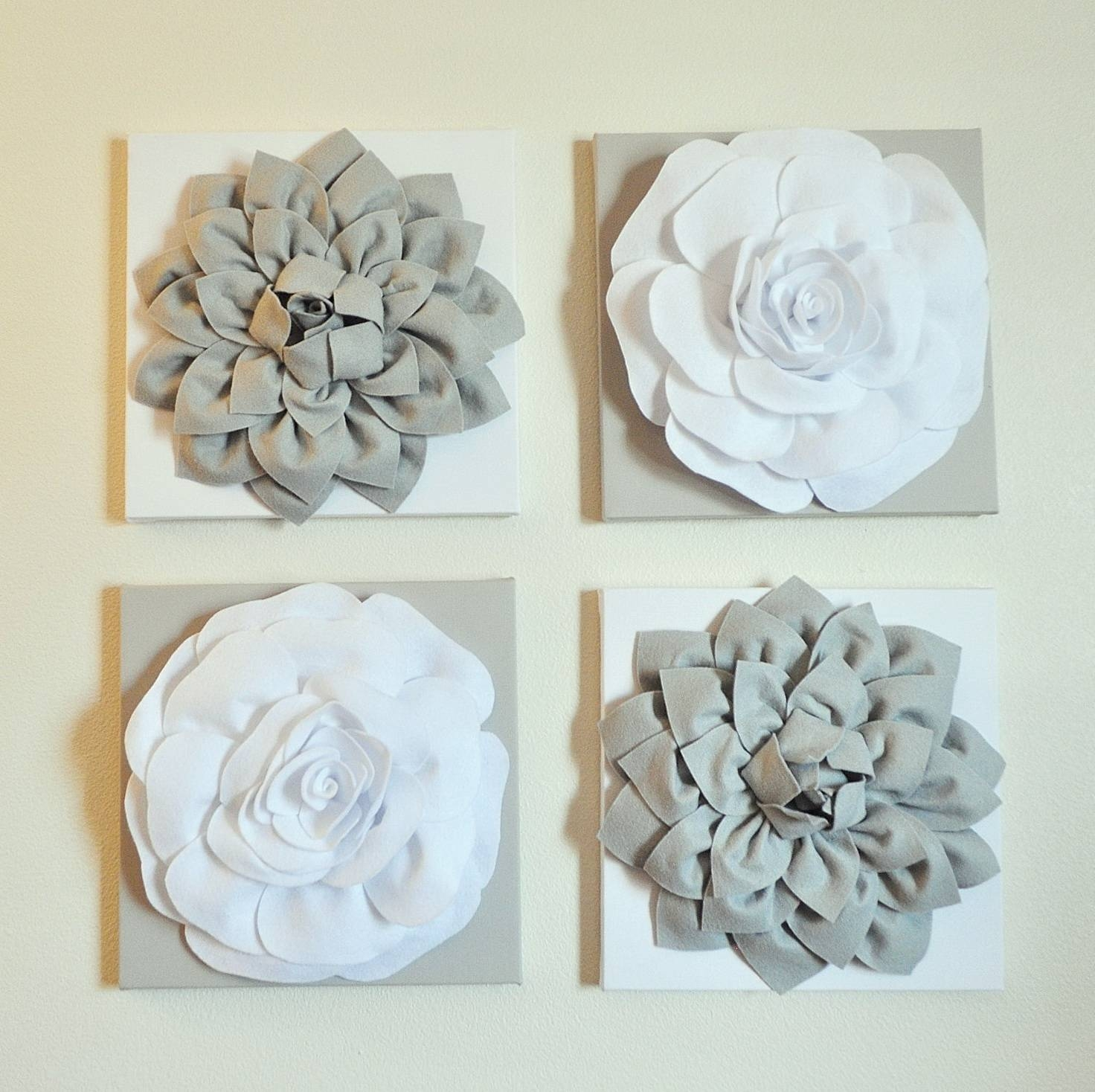 White Metal Flower Wall Art | Home Design Ideas Intended For 2017 White Metal Wall Art (View 2 of 20)