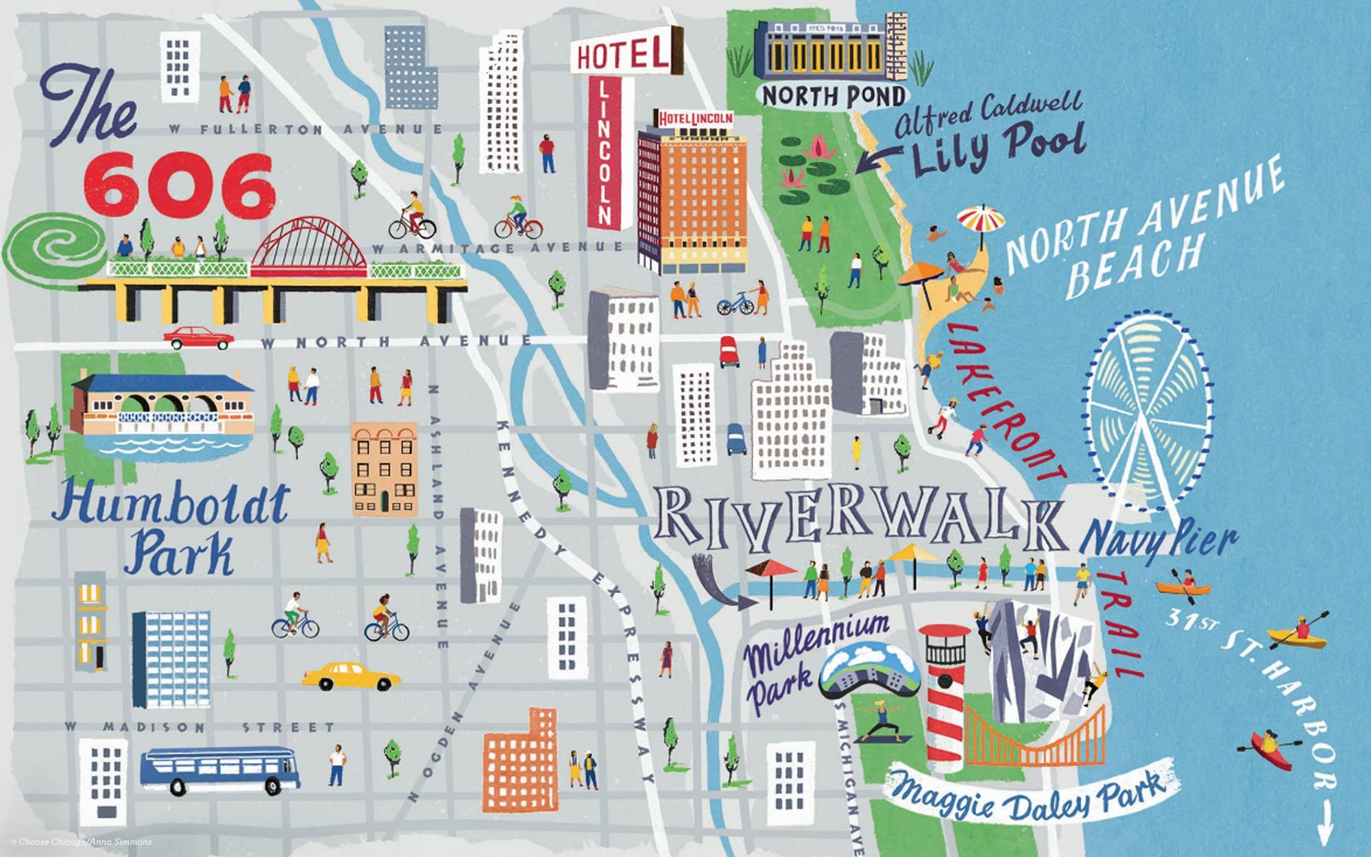 Wicker Park / Bucktown | Chicago Neighborhoods | Choose Chicago Inside Best And Newest Chicago Neighborhood Map Wall Art (View 20 of 20)
