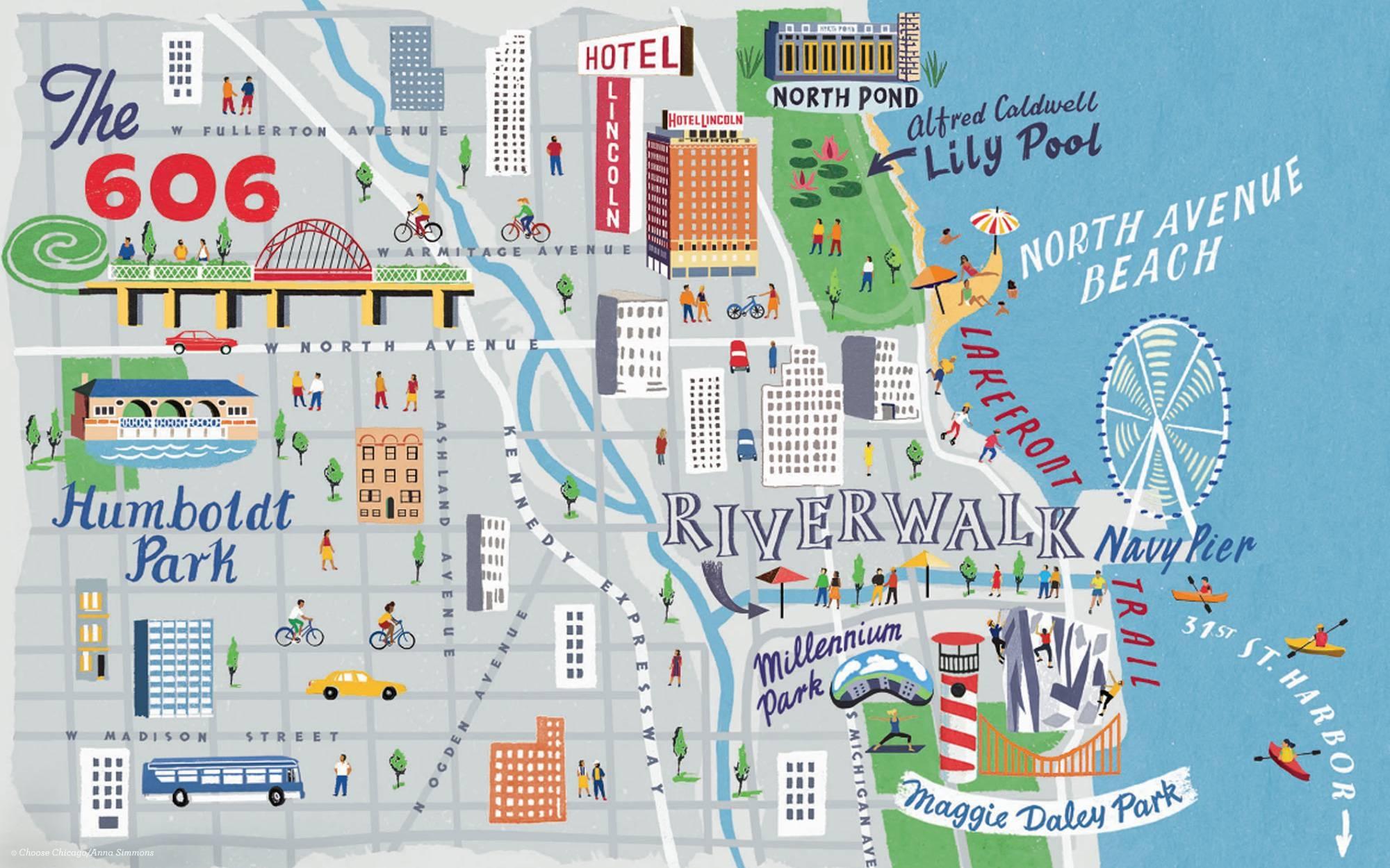 Wicker Park / Bucktown | Chicago Neighborhoods | Choose Chicago Inside Best And Newest Chicago Neighborhood Map Wall Art (View 15 of 20)