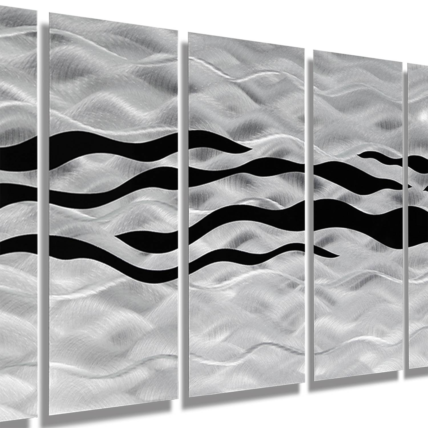 Wild Ways – Silver And Black Modern Metallic Wall Hanging Throughout Most Current Black And Silver Metal Wall Art (View 17 of 20)