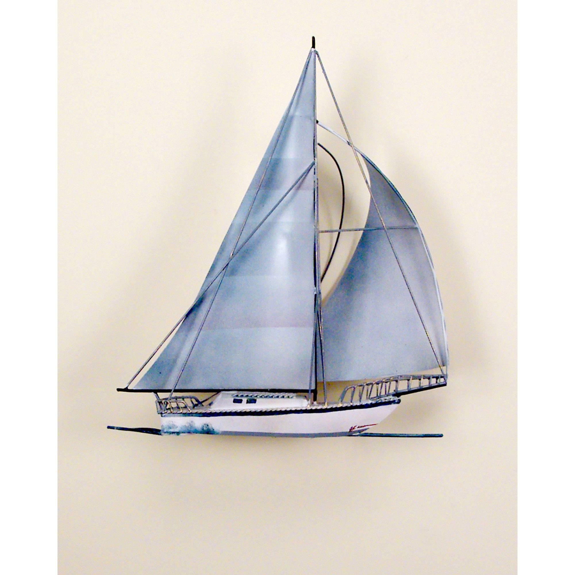 Windjamer Sailboat, Single, Ocean, Boat, Nautical, Sailing In Newest Lighthouse Metal Wall Art (View 20 of 20)