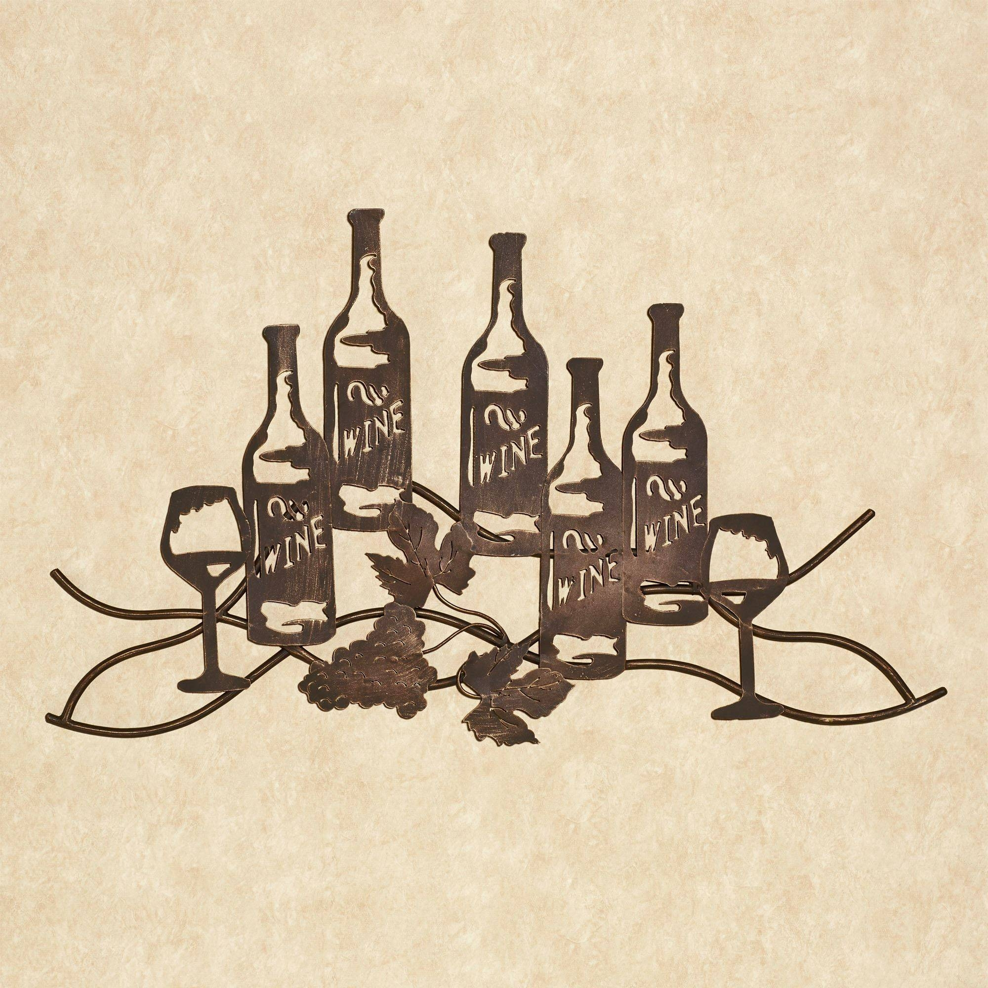 Wine And Grapes Metal Wall Art For Best And Newest Antique Metal Wall Art (View 17 of 20)