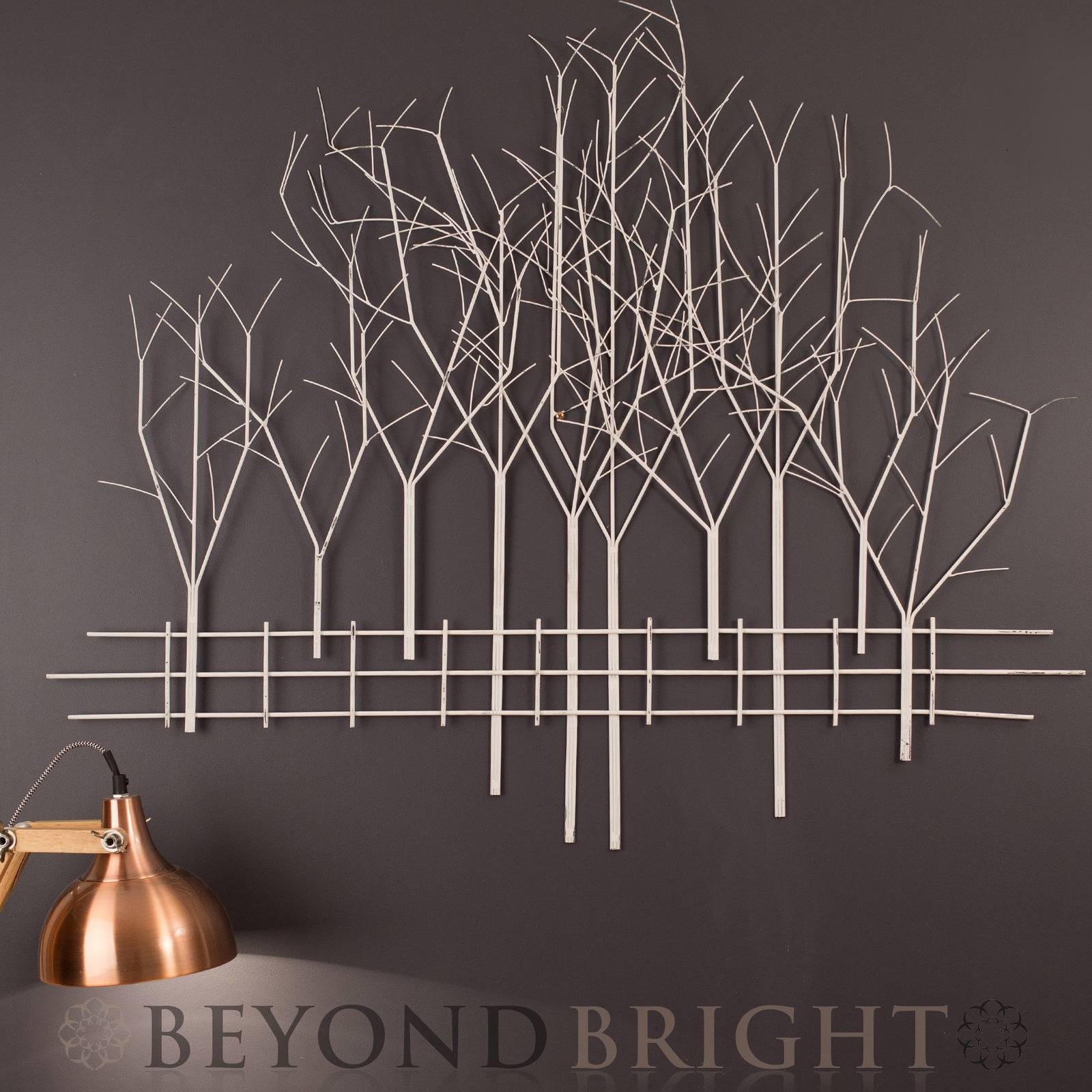 Winter Woodland Metal Wall Art | Modern – Vintage – Indoor With Regard To Latest Contemporary Metal Wall Art (View 19 of 20)