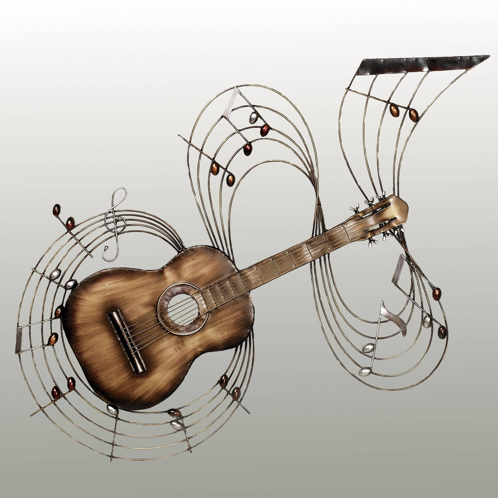 Within The Music Guitar Metal Wall Art Intended For Latest Musical Instruments Metal Wall Art (View 7 of 20)