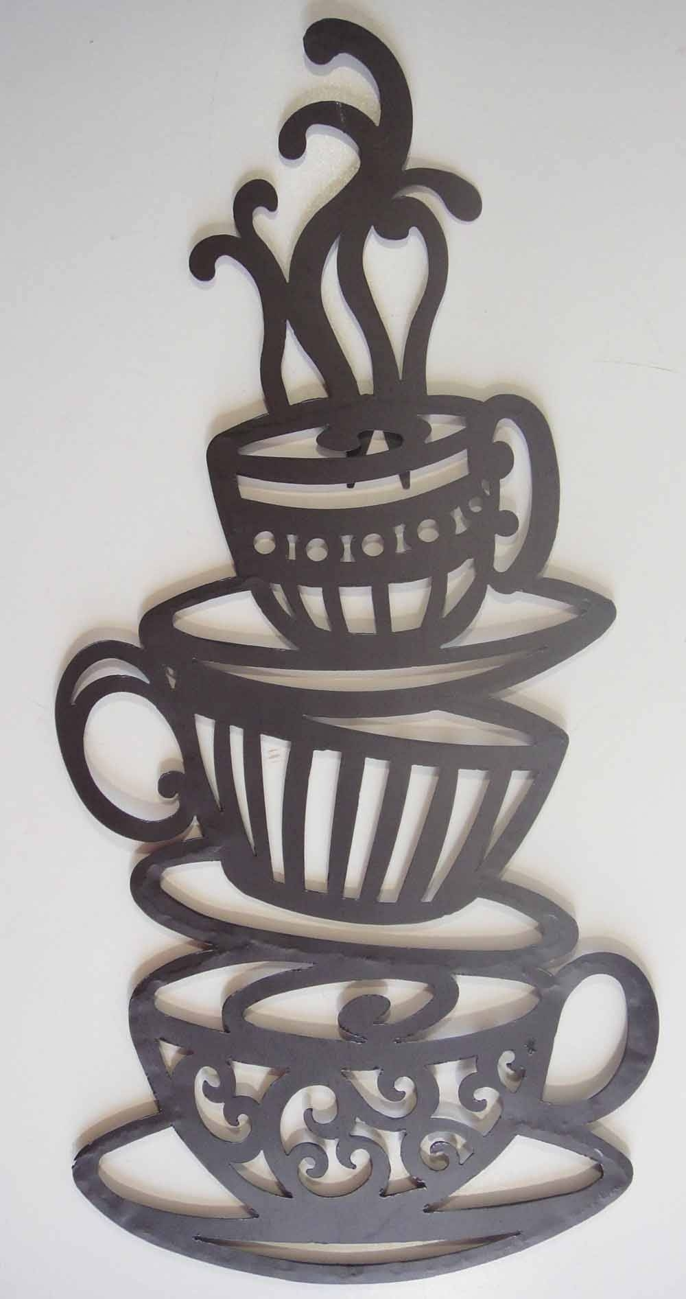 Wonderful Metal Coffee Cup Wall Decor As Well As Terrific 3D Metal Inside 2017 Coffee Metal Wall Art (View 20 of 20)