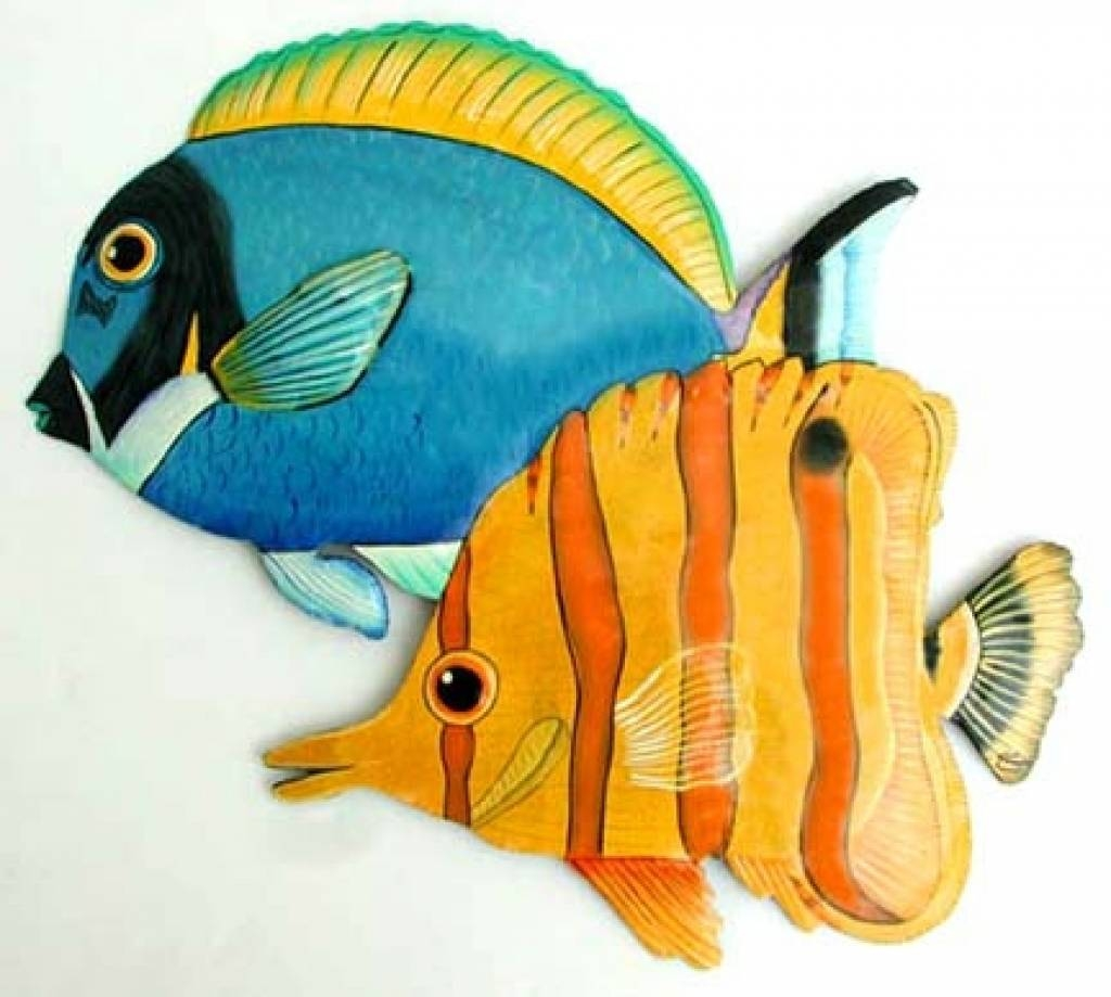 Wonderfull Tropical Fish Wall Decor Remodel | Interior Decoration Within Current Tropical Fish Metal Wall Art (View 3 of 20)