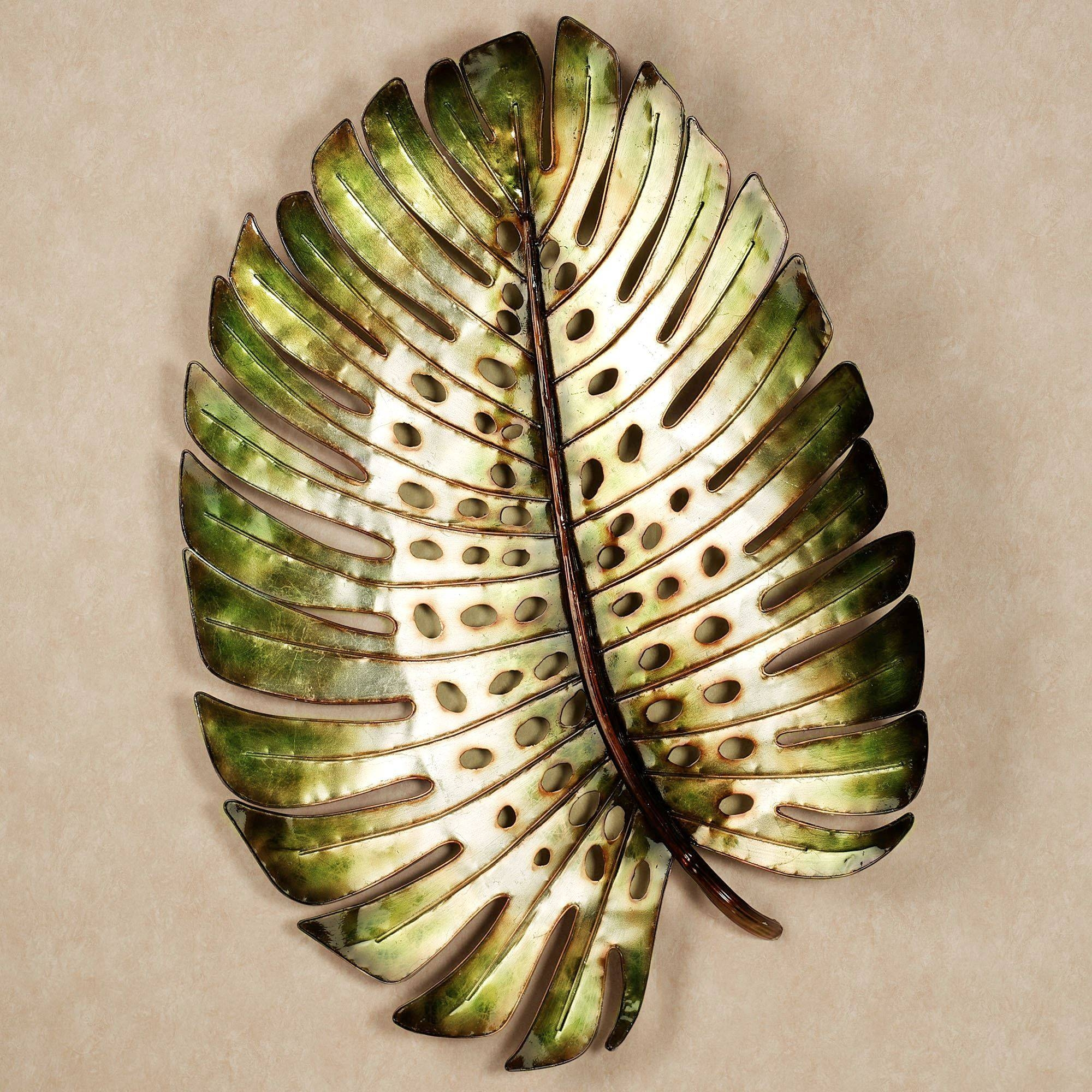 Wondrous Tropical Metal Wall Art Home Tropical Leaf Metal Design In Most Current Metal Wall Art Leaves (View 20 of 20)
