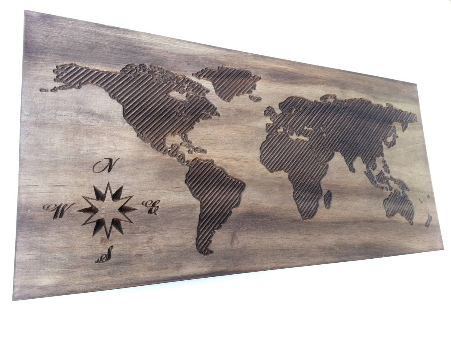 Wooden World Map Wall Art At – Roundtripticket Throughout Current Wood Map Wall Art (View 17 of 20)