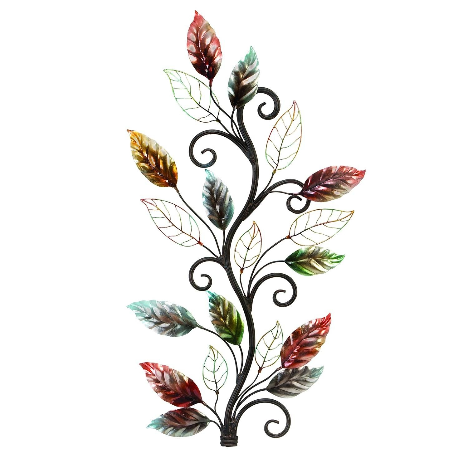 Woodland Imports 13412 Metal Floral Branch Wall Decor In Pertaining To Most Current Nature Metal Wall Art (View 15 of 20)