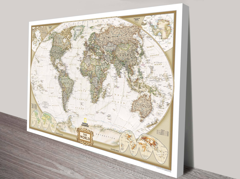 20 best world map wall art canvas world map canvas wall art framed maps sydney with newest world map wall art canvas gumiabroncs Choice Image
